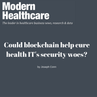 Could blockchain help cure health IT's security woes?