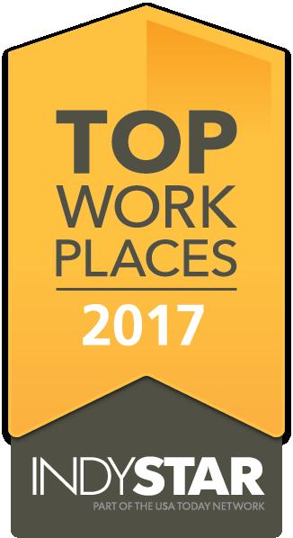 IndyStar 2017 Top Workplace logo